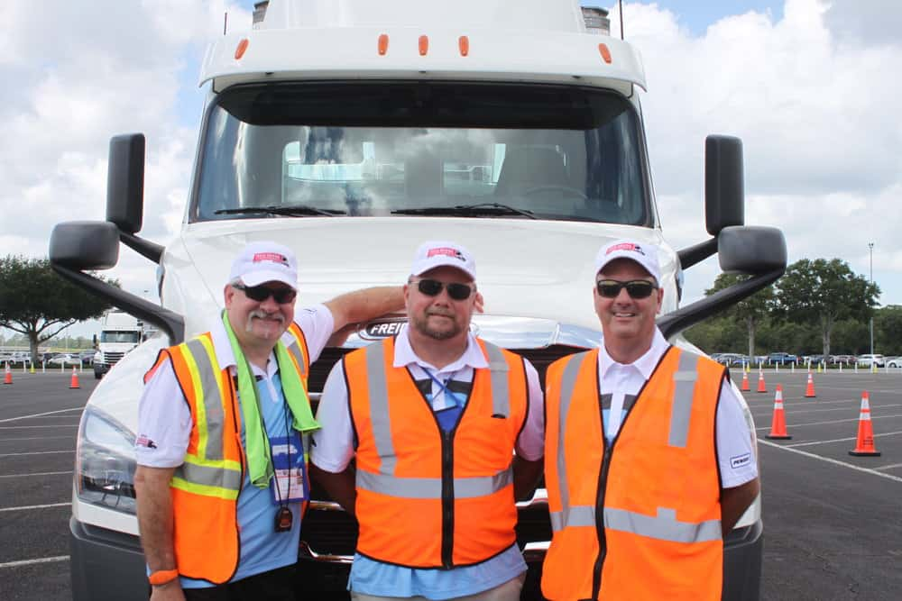 Left to right, IFDA course designers C. Scott Pritchett ,  Ted Gundersen, and Mark D